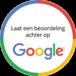 Google laat een beoordeling achter